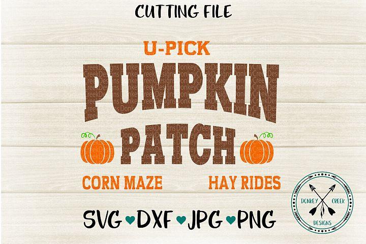 Pumpkin Patch Sign SVG Cutting File