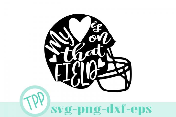 Football Mom svg, My Heart Field svg, football design