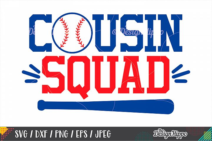 Cousin Squad SVG DXF PNG EPS Cut Files, Baseball Squad SVG
