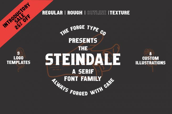 Steindale - Vintage Texture Font