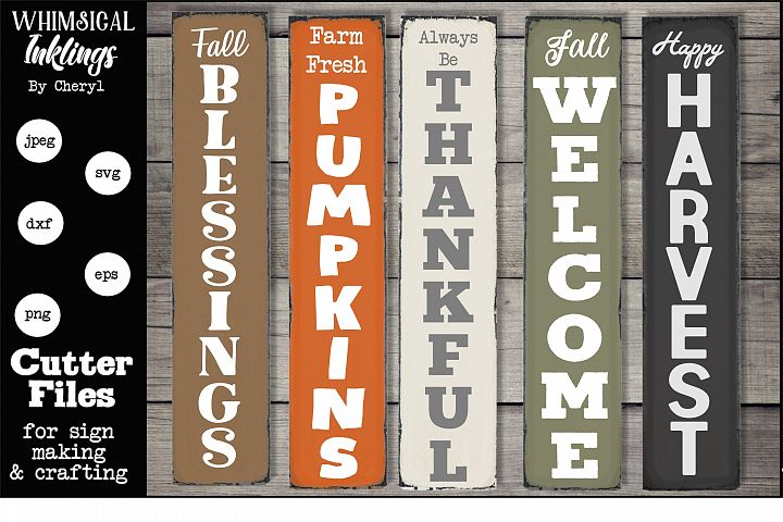 Fall Verticals SVG Set