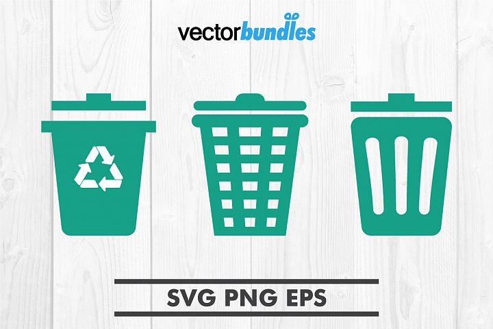 Recycle bin clip art svg