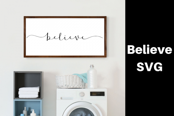 Believe Word SVG|Believe Word SVG For Cricut