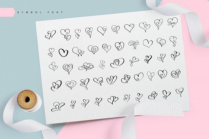 Lovingly Symbol Flourish Hearts Font example image 4