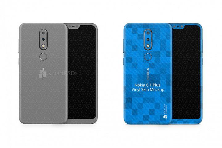 Nokia 6.1 Plus Vinyl Skin Design Mockup 2018