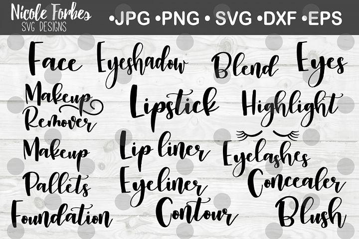 Makeup Label SVG Bundle