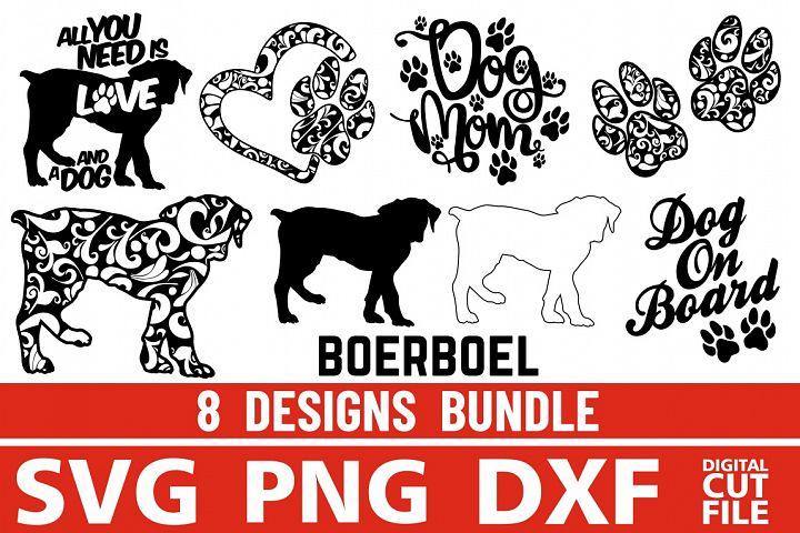 8x Boerboel Bundle svg ,Dog Shapes svg,Silhouettes, Vector