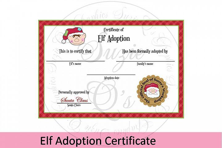 Elf Adoption Certificate 4 x 6inches