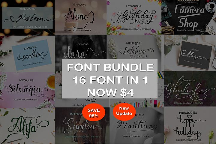 FONT BUNDLE DECEMBER SAVE 95