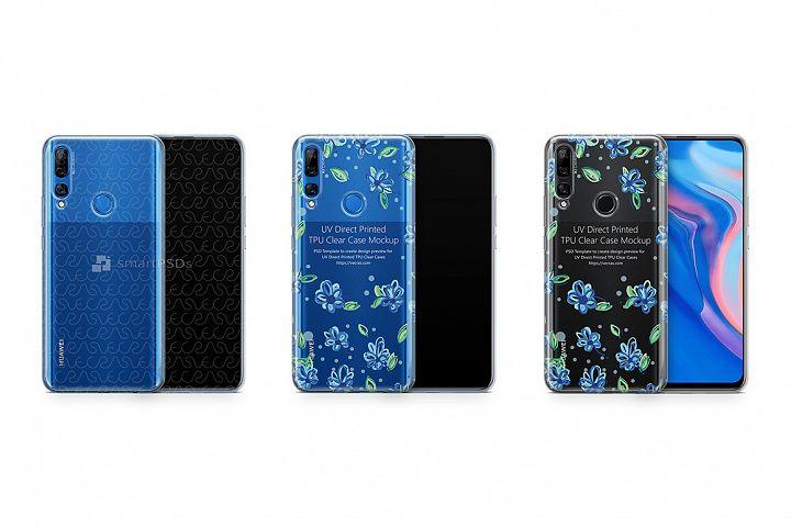 Huawei Y9 Prime TPU Clear Case Mockup 2019