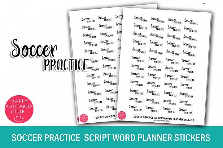 Soccer Game Script Words Planner Stickers- Soccer Planner