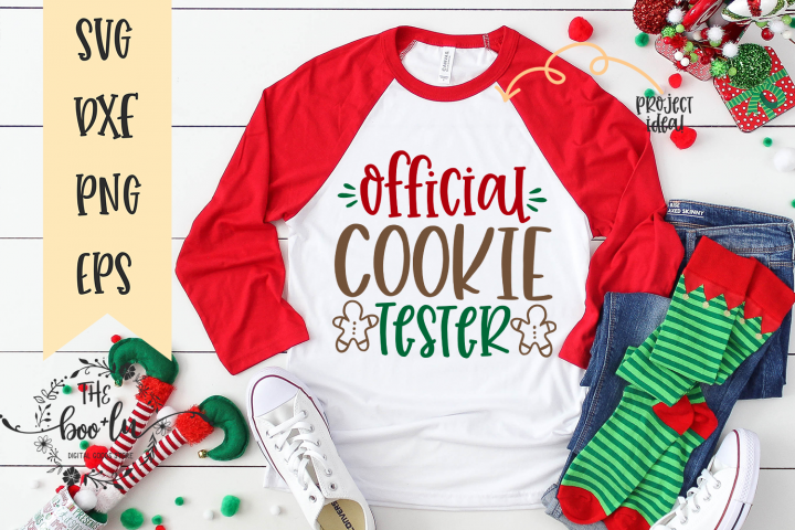 Official Cookie Tester Christmas Winter SVG EPS DXF PNG