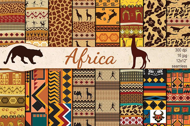 African Ethnic seamless patterns