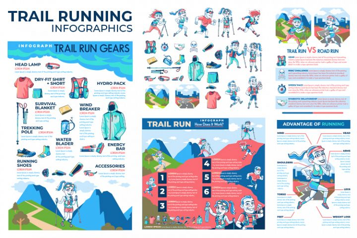 Trail Running Infographics
