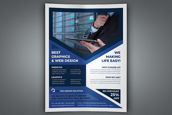 Graphics and Web Design Flyer Template