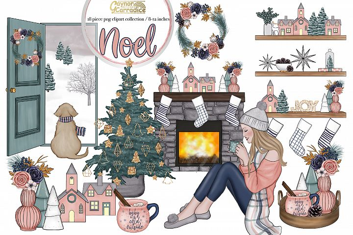 Noel - cozy winter clipart collection