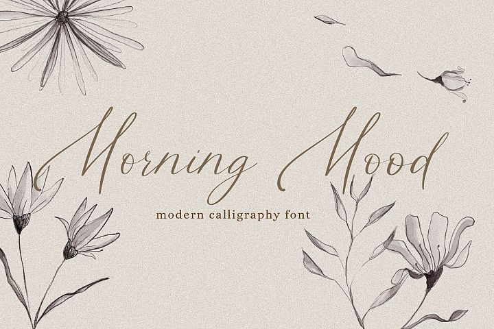 Morning Mood, calligraphy hand written font