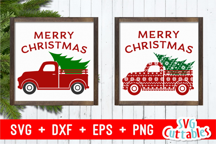 Merry Christmas Truck | Christmas Cut File