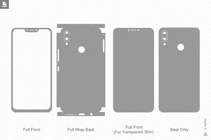 Zenfone 5Z 2018 Skin Template Vector