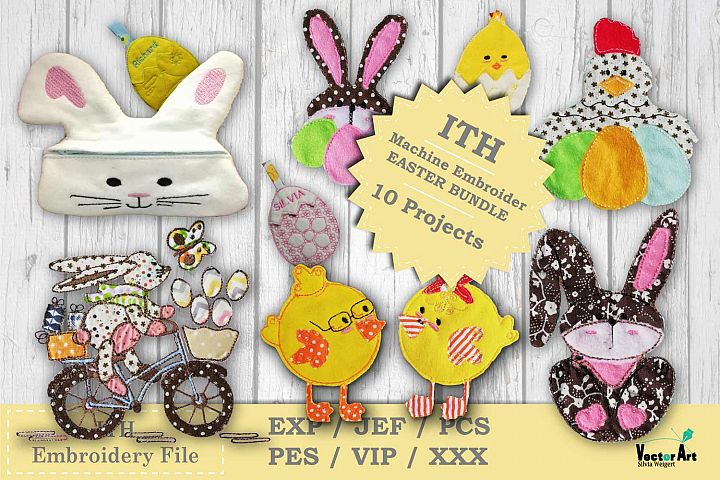 ITH Easter Bundle - Machine Embroidery Files - 10 Projects