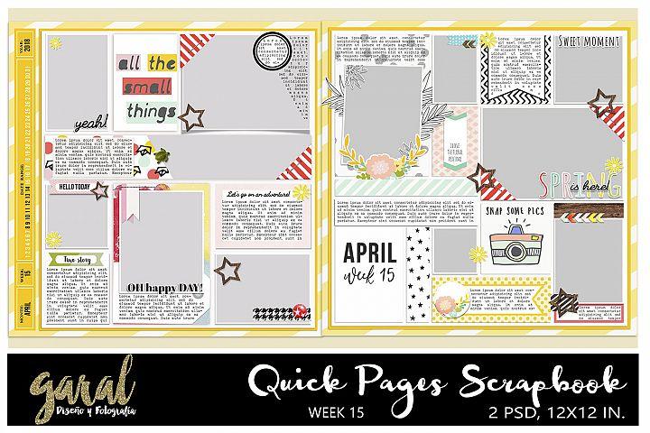 Quick Pages Scrapbook, Week 15 2018 Project life, Pocket Scrapbook