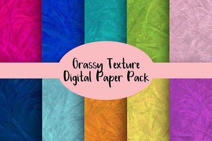 Grassy Texture Digital Paper Pack