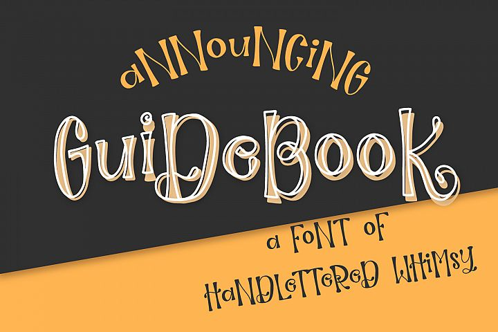 Guidebook - Hand lettered Whimsy Font