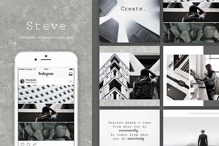 Steve|Instagram + stories templates