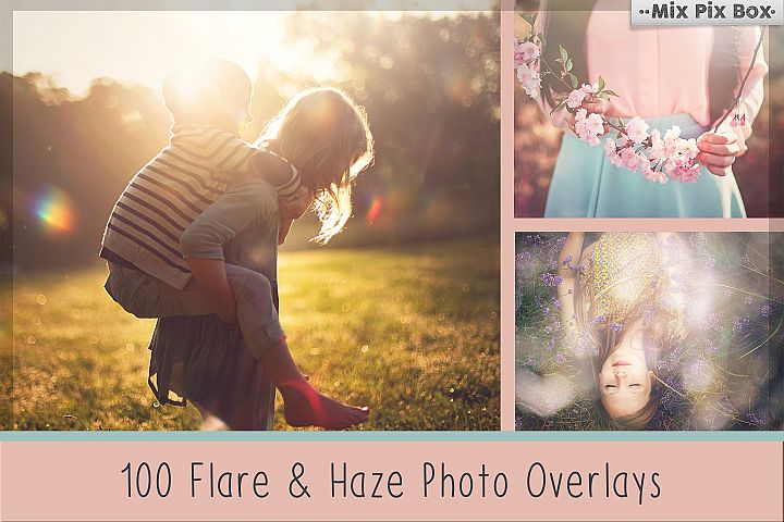 100 Sun Flare and Haze Overlays