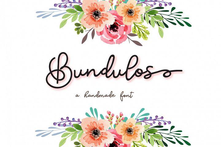 Bundulos - A modern calligraphy script font