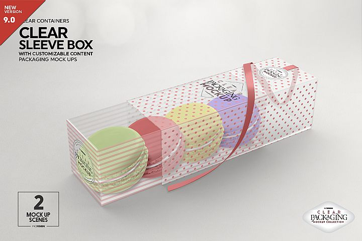 Clear Sleeve Box Packaging Mockup