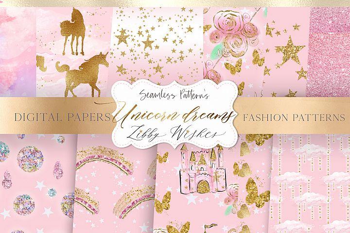 Unicorn patterns Pink