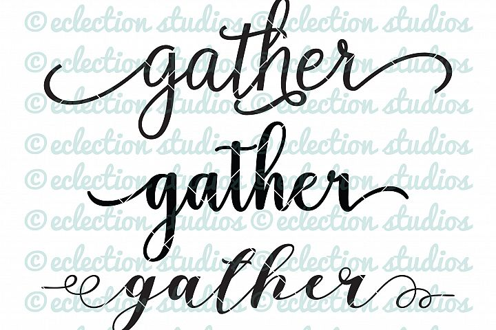Gather SVGs, Word Art for Sign makers