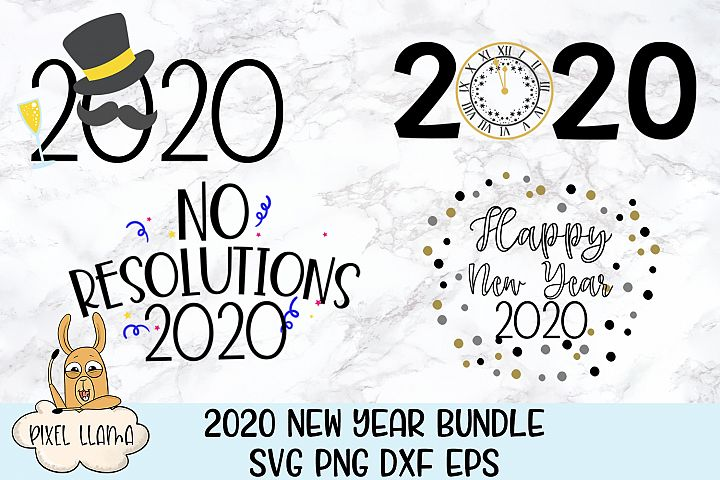 2020 New Years Mini Bundle of 4 SVGs
