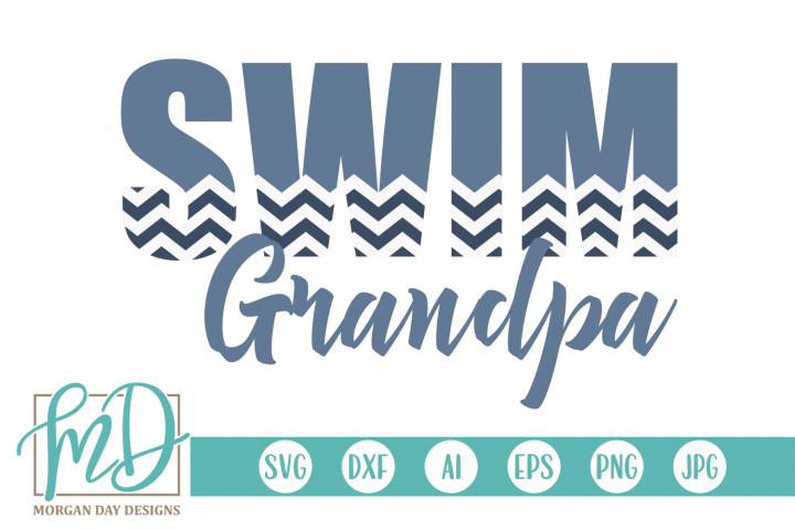 Swimming - Proud Grandpa - Swim Grandpa SVG