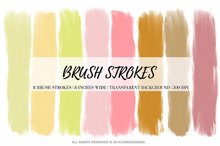 Wedding Brush Strokes, Pastel Brush Strokes, Wedding example 1