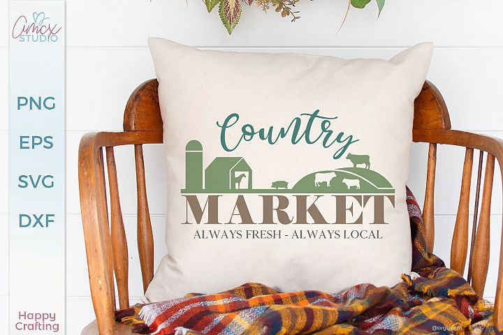 Country Market - A Cute Country Home Cut File