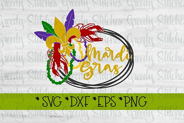 Mardi Gras Wreath| Mardi Gras SVG DXF EPS