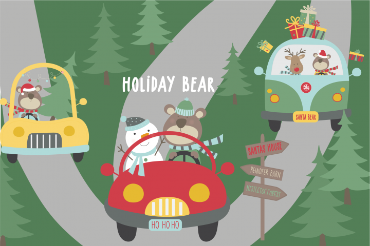 Holiday Bear pack