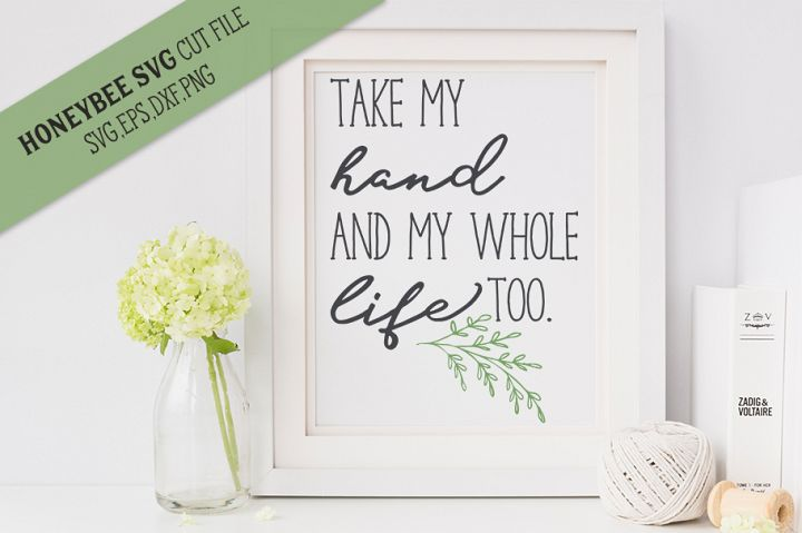 Take My Hand SVG Cut File