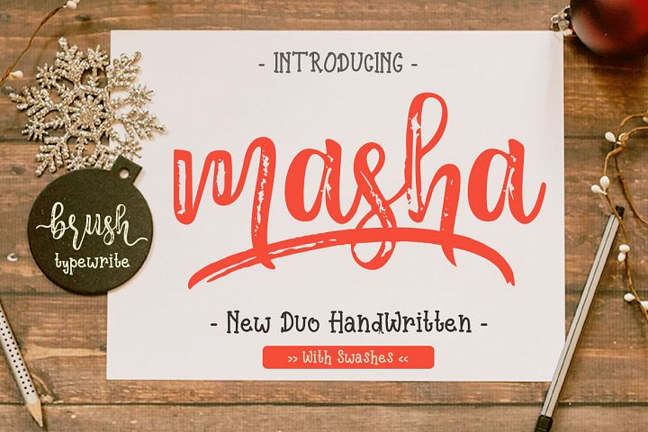 Masha // Duo Handlettered Fonts