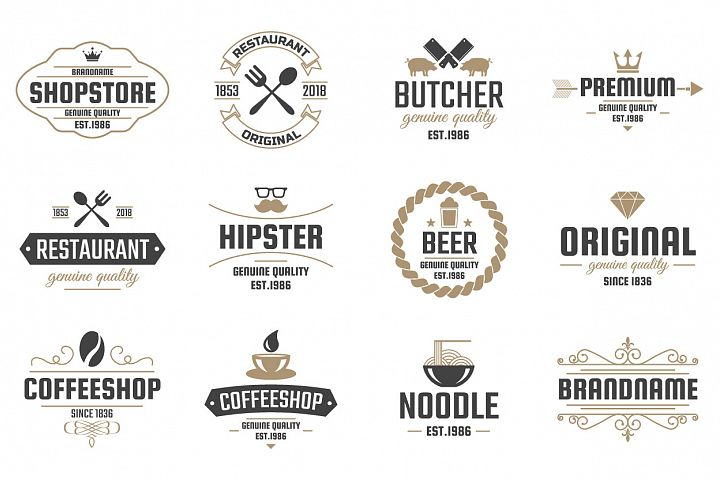 42  Vintage Logo Set example 9