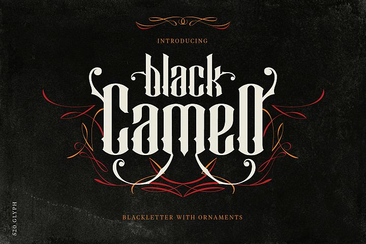Black Cameo - with Bonus Ornaments