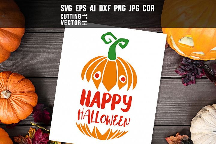 Happy Halloween - svg, eps, ai, cdr, dxf, png, jpg