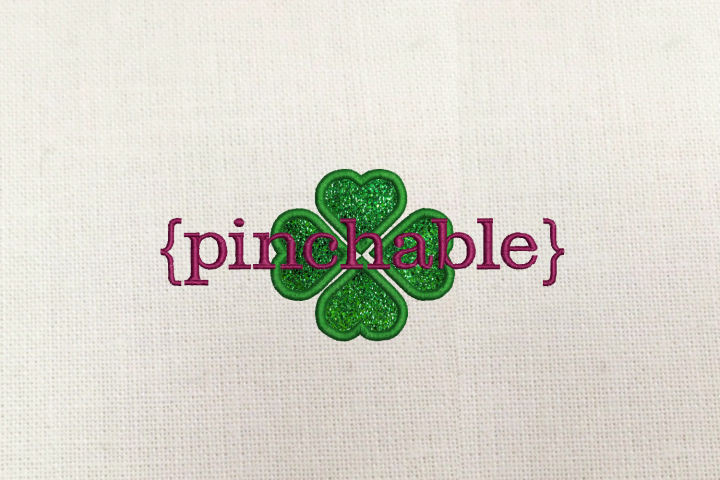 St. Patricks Day Pinchable Applique Embroidery Design