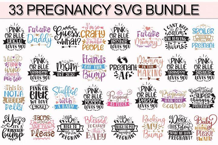 SVG Bundle,33 Pregnancy SVG Bundle,Pregnancy SVG,Pregnancy