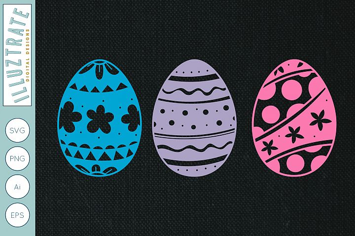 Easter egg SVG Cut Files | Easter egg Paper Cutting Files