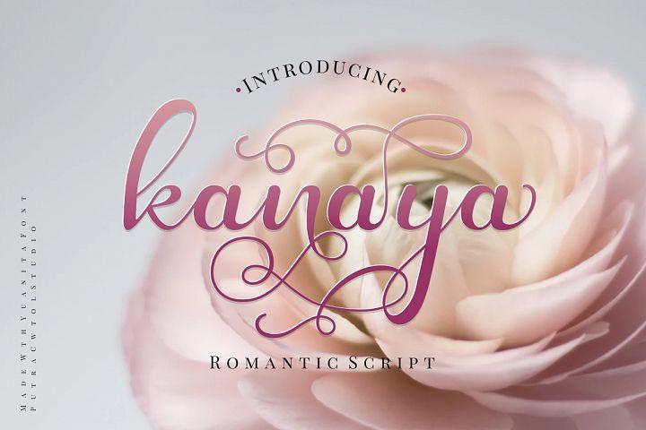 Kanaya - Romantic Font