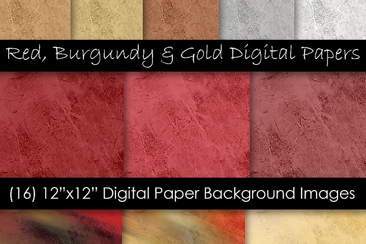 Rock & Stone Red Burgundy and Gold Backgrounds