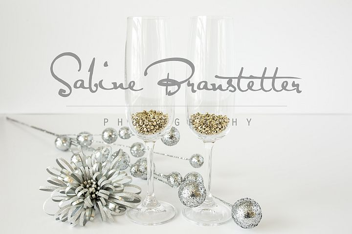 Styled Stock Photography Two Champagne Glasses Party Mockup